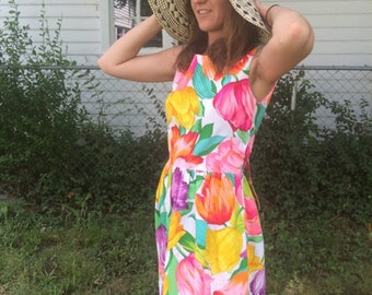 Small Maxi Dress ~ 1960s Vintage ~ Park East by Swirl