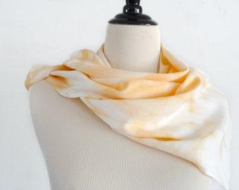 Osage Orange Rayon Scarf - Hand Dyed Scarf - Eco Dyed Scarf - Eco Fashion - Lightweight Scarf - Preppy - Earthy - Boho - Casual - Modern
