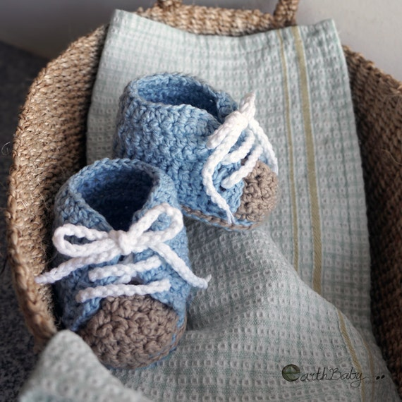 Crochet Pattern Baby Boy Shoes Sneakers with Laces Crochet