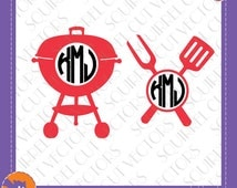 Grill Monogram Frame SVG DXF EPS Cutting files