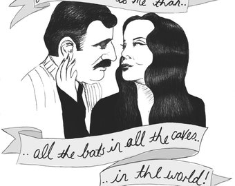 Morticia & Gomez Print - The Adams Family