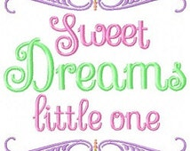 Sweet dreams little one embroidery design, baby embroidery design, sweet embroidery design