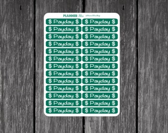Payday Stickers 26 Count - Erin Condren, Kikki K, Filofax, Plum Paper