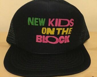 vintage new kids on the block snapback hat