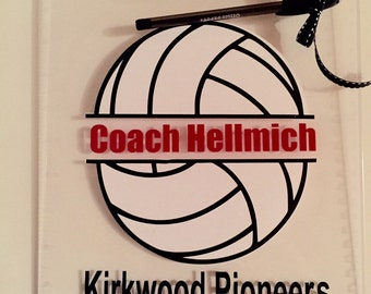 Volleyball Coach gift personalized volleyball Clipboard with Name, also Dance, Soccer/Any sport, custom clear or storage clipboard case