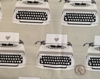 Black & White Typewriter by Melody Miller for Cotton + Steel