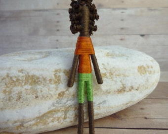 Worry Doll - Miniature Art Doll - Personalized Doll - Handmade Doll - Custom Doll - Frank