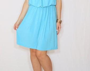 Aqua blue dress Blue bridesmaid dress Short dress Party dress
