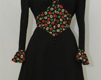 Seventies vintage dress, 70s dress, vintage 70's dress