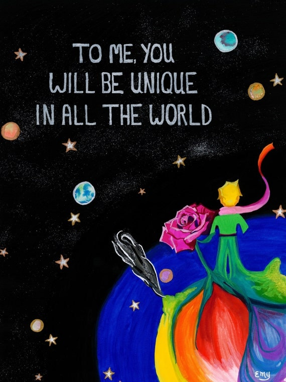 Items Similar To The Little Prince Quote Inspirational: Items Similar To The Little Prince / Le Petit Prince