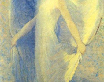 Angel Lady Great Wings 1912 Fine Art Poster Repro FREE SHIPPING