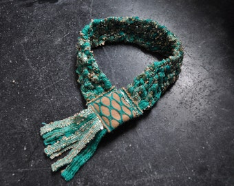 Green Macrame Collar