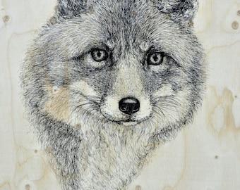 Fox. Good quality art print. A3 size.