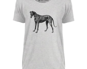 Mintage Greyhound Etching Mens Scoop Neck T-Shirt
