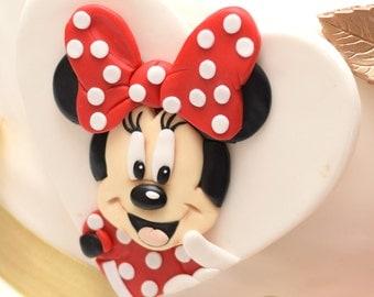 "Fondant Minnie Mouse 3D Custom Head Large 5"""