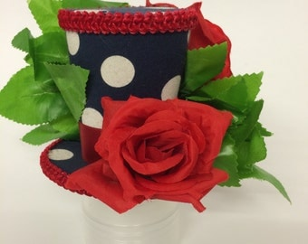 Mini Top Hat - English Roses