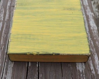 4 Rustic Wooden Coasters Distressed-Pick Your Color-Custom-Gold