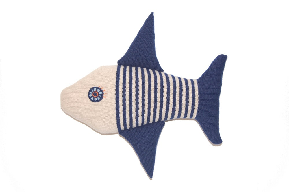 Fish pillow soft knitted toy for Fish shaped pillow
