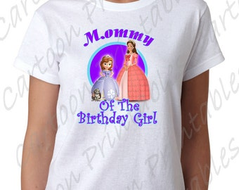 Princess Sofia the First Mommy of The Birthday Girl IMAGE Printable Clip Art Iron on Disney Shirt T-shirt Scrapbook Instant Download