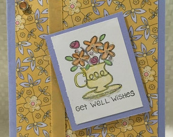 Stampin Up Get Well Flower Card