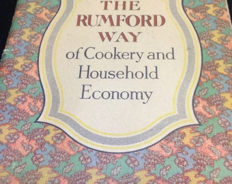 Vintage cookbook 1930 The Rumford Way