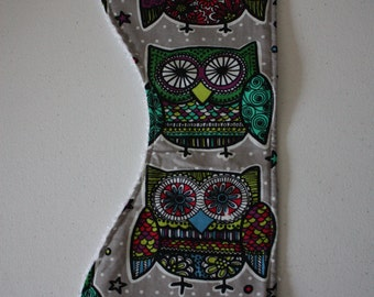 Owl Contoured Burp Cloth