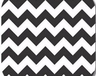 This listing is for Riley Blake's Black Medium Chevron fabric. C320-110