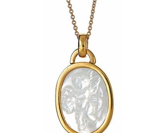 Angel Lado Mother Of Pearl Charm Necklace
