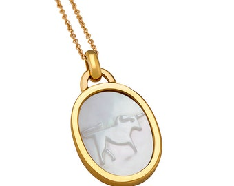 Taurus Mother Of Pearl Charm Necklace