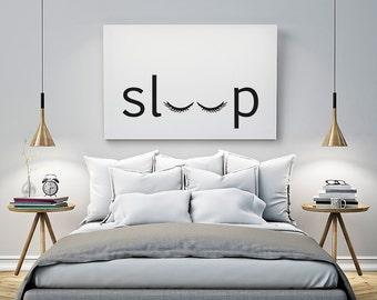 Printable Poster - sleep - Typography Print Black & White Wall Art Poster Print Scandi Art for Bedroom / GuestRoom