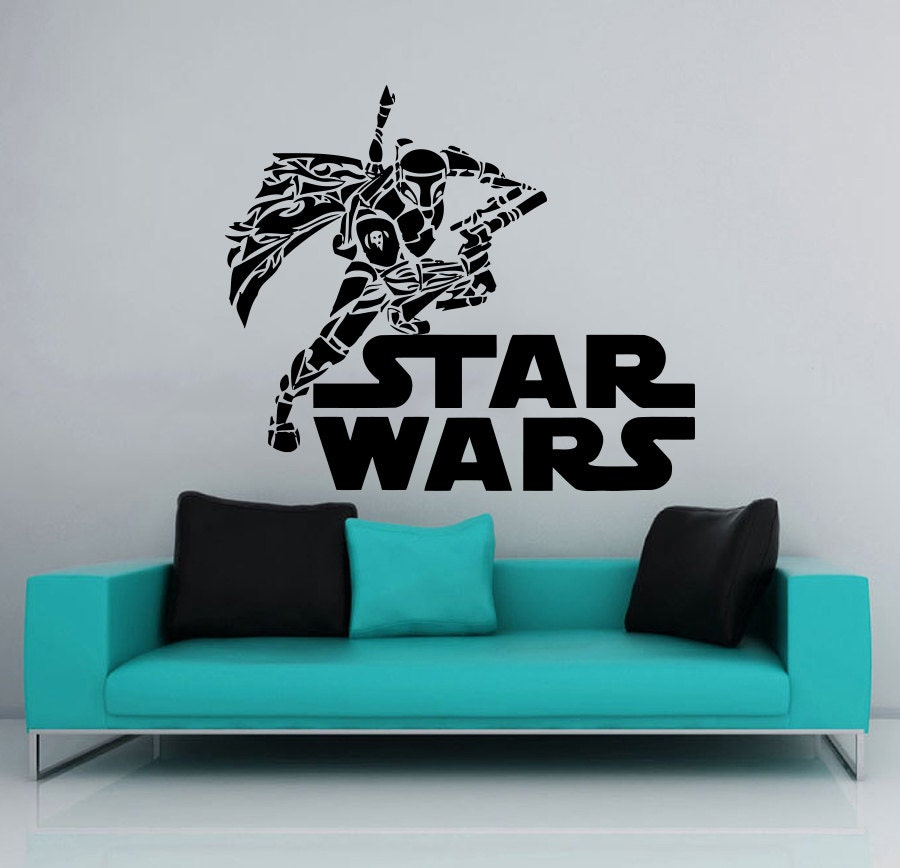 star wars wall decals wall decal wars logo boba fett vinyl sticker decals 30090