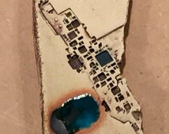 Alley 1 iPODDERY Vania Setti Settiarts Ceramics Art Stoneware Plaque