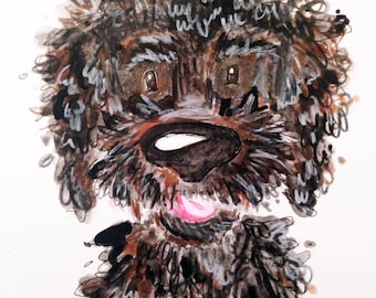 Custom Dog Illustration: Buckley