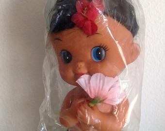 Vintage Hawaiian Hula Girl Doll * New in Package * Kawaii Hawaii *