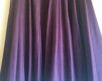 Royal Purple Circle Skirt