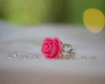Hot Pink Adjustable Ring