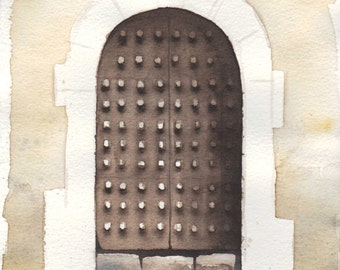 150616 medieval gate, inspired by the village of Pedraza (Segovia)