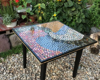 Beer Bottle Top Mosaic Table