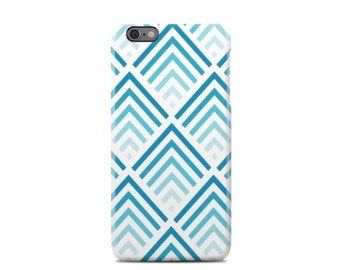 Blue/White Chevron Pattern iPhone 6 Case - iPhone 6 Plus Case - iPhone 5 Case - iPhone 5S Case - iPhone 5C Case