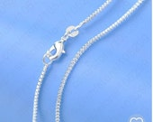 30 inch .925 sterling silver 1.2mm box chain necklace with lobster clasp Perfect for my pendants simple shiny