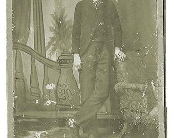 Ornate Black Framed Print: Wallace Walker, the long legged man
