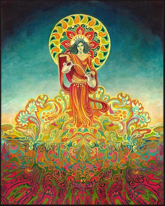 Temperance Tarot Goddess Of Harmony 11x14 Print Pagan