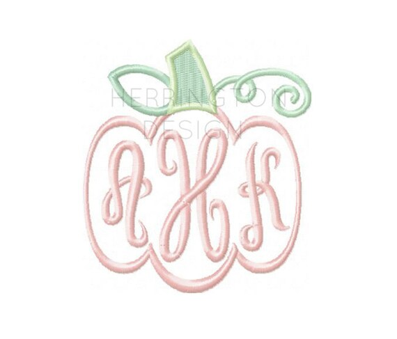Pumpkin embroidery design harvest by