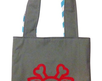 Red Printed Plushkill Forest Tote