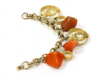 1960's Heart Charm Bracelet