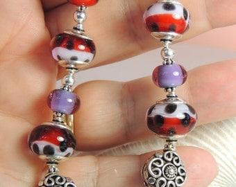 SANGRIA Handmade Lampwork Bead Bracelet