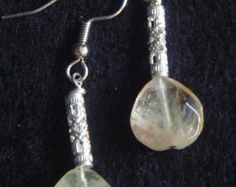 Silver Filigree tube and Citrine Drop-Adria