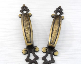 1970s Cool Drawer Pulls pair