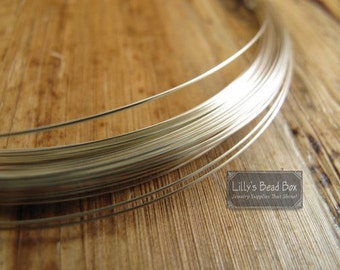10 Feet of 26 Gauge Silver Wire, .925 Sterling Silver Wire, Ten (10) Feet, Round, Half Hard Wire for Wire Wrapping, Jewelry Supplies