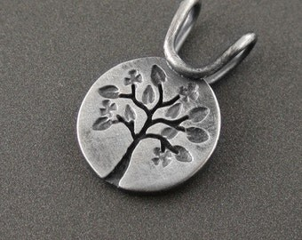 Mini Silver Four Seasons Series - Spring Tree Pendant